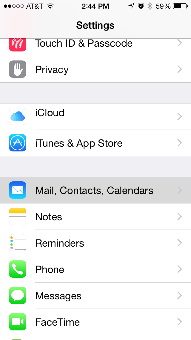 Setup btconnect email on iphone